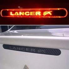 Углеродное волокно, наклейка на тормоз для Lancer Ex 9 10, высокопозиционные задние тормозные огни, наклейка s для Mitsubishi lancer, автомобильные аксессуары