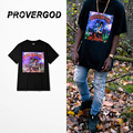 PROVERGOD 2017 New Hip Hop Print T-shirt Mens Classic Heavy Metal Short Sleeve T Shirt Cotton Tops Tees