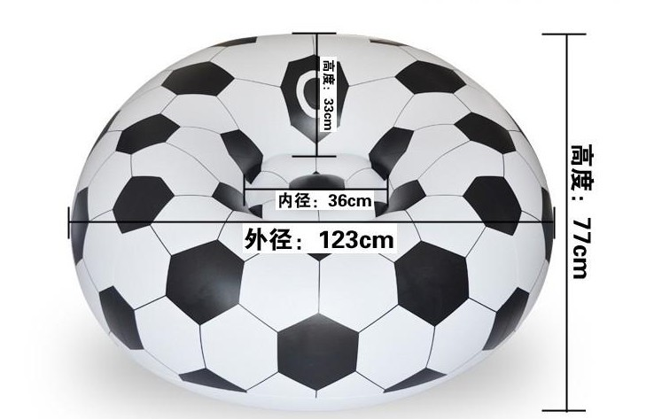 Football Basketball Design Extra Large Bean Bag Sofa For Home And Office 3