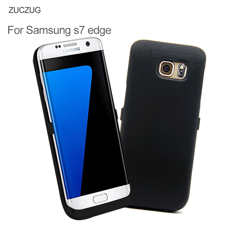 imágenes para Casos Cargador de Batería recargable Para Samsung Galaxy SM-G9350 Stands Holder S7 Borde Caso Banco de la Energía 6800 mAh Powerbank Cubierta