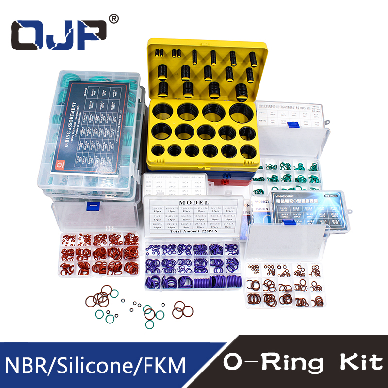 O Rings Rubber/Silicone O Ring Seal Viton NBR FKM Sealing O-rings Nitrile Washer Rubber oring set Assortment Kit Set Box RingO Rings Rubber/Silicone O Ring Seal Viton NBR FKM Sealing O-rings Nitrile Washer Rubber oring set Assortment Kit Set Box Ring