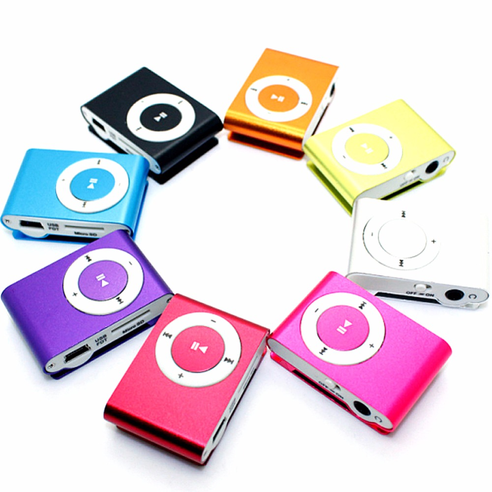 366c4ace0 Mini Portable MP3 Player Clip MP3 Player Sport Colorful TF Card Mp3 Music  Player for Walkman Running Without Screen Display