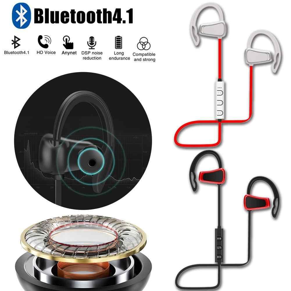 MOUDOU bezprzewodowy zestaw słuchawkowy Bluetooth słuchawki sportowe słuchawki bez użycia rąk do biegania Stereo Bass Comportable odporny na pot słuchawki douszne