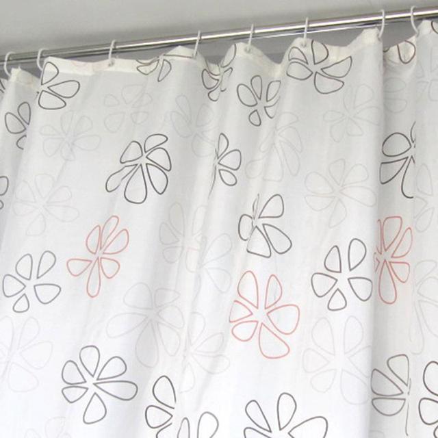 12Pcs White Shower Curtain Hooks Hanger Plastic C Type Ring Bath