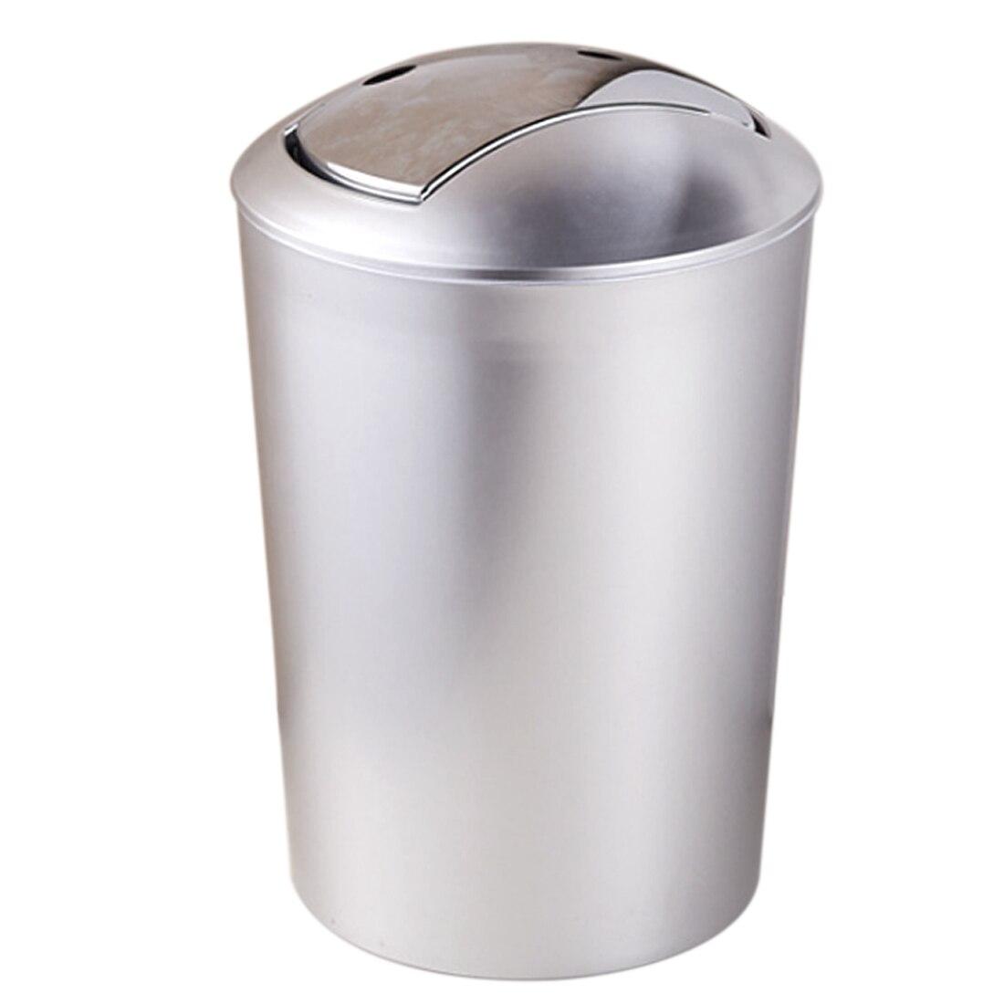 HIPSTEEN 6.5L Thicken Bathroom Garbage European Style Trash Wastebin With  Lid Kitchen Trash Cans Storage