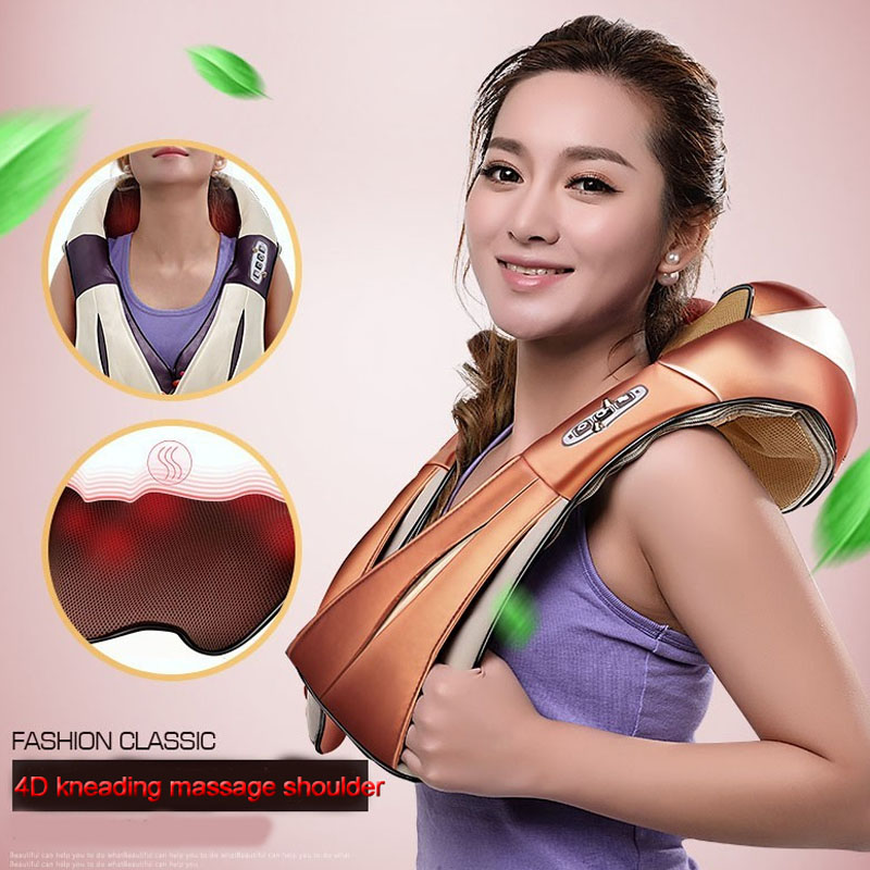 HOT! Multifunction Infrared Body Health Care Equipment Car Home Acupuncture Kneading Neck Shoulder Cellulite Massager 15