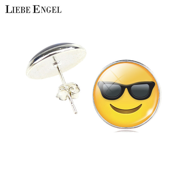 Women Fashion Emoji Emoticon Stud Earrings