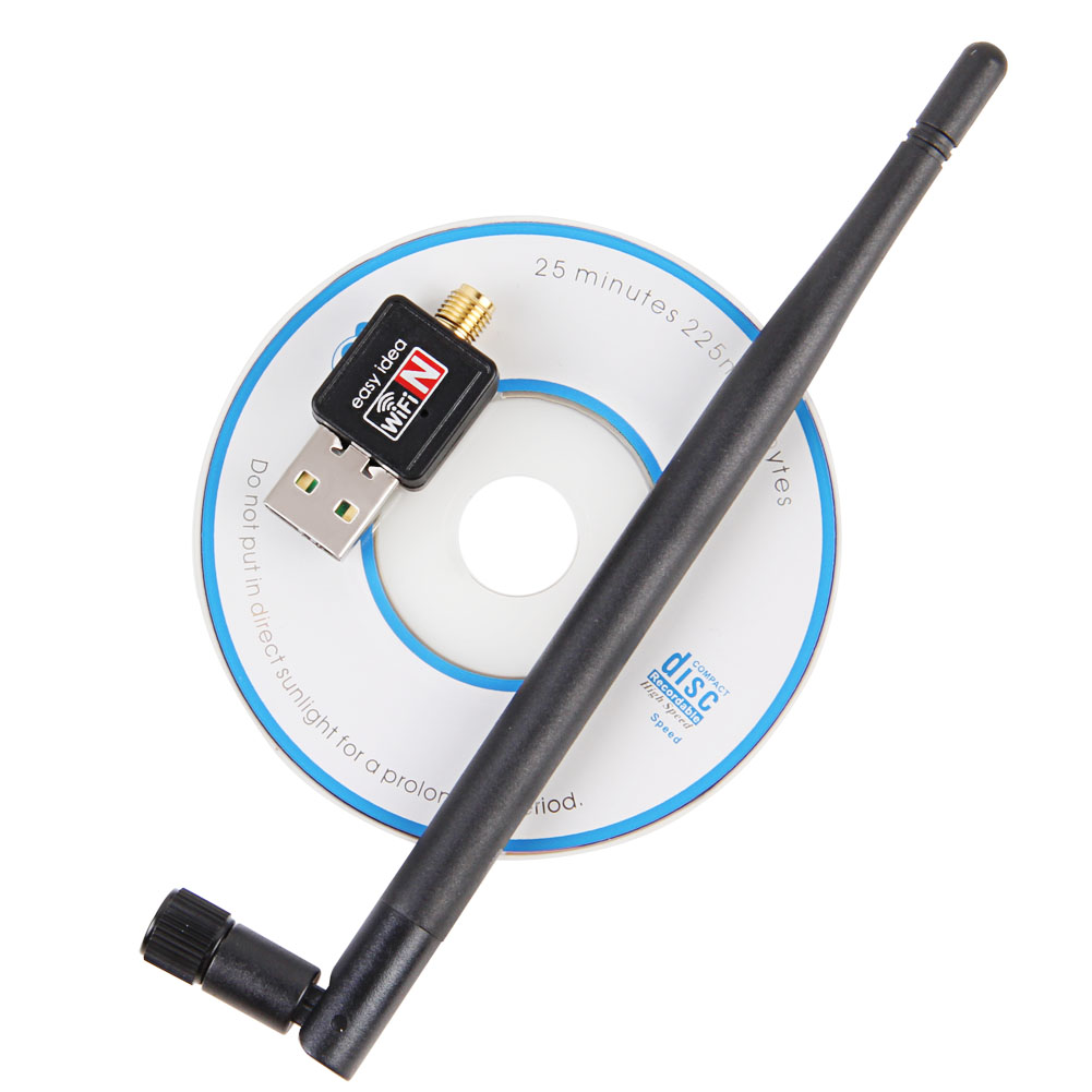 USB WiFi Adapter 5dB Wifi Antenna 150Mbps Wireless Wifi Dongle 802.11b/n/g USB Network Card Adaptador Wi Fi Receiver For Windows