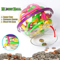 100 Steps Money Ball Coin Game Maze Brain Teaser Gift Educational classic toys Marble Puzzle Game perplexus balls IQ Balance toy