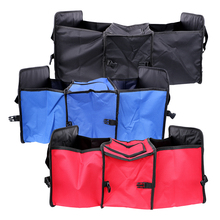 Car Back Seat Organizer Stowing Tidying Universal 3 Compartments Portable Storage Bag Car-styling Trunk