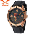 Watches Men Luxury Brand VILAM Quartz Watch 3D Bone Design Watch Reloj Hombre Sport Waterproof Rubber Wristwatch Halloween Gift