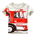 New 2016 Fashion Boy's T shirt Cotton Short-sleeved  Printing Children's Cartoon Gray Kids Boys Child's Clothes