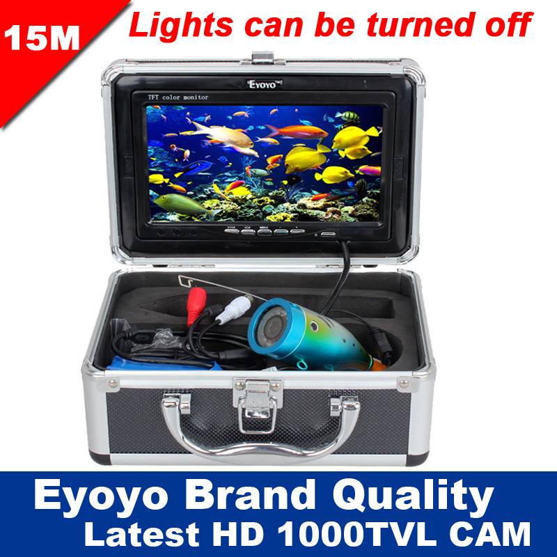 Eyoyo Original 15m Professional Fish Finder Underwater Fishing Video Camera 7 Color HD Monitor 1000TVL HD CAM Lights Control smiths consumer products jiff s jiffy knife