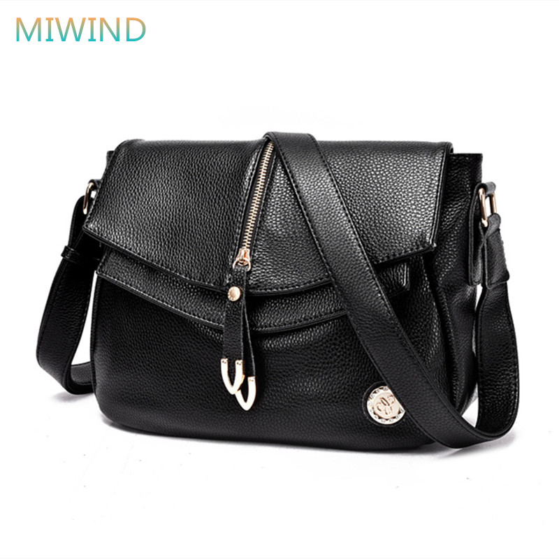 MIWIND Top Quality 2017 Split Leather Bag Fashion Women Leather Handbags Bolsa Feminina Shoulder Messenger Bags Ladies GB073 miwind new fashion leather handbags high quality women shoulder bags buy one get another free full set 6 pieces more favorable