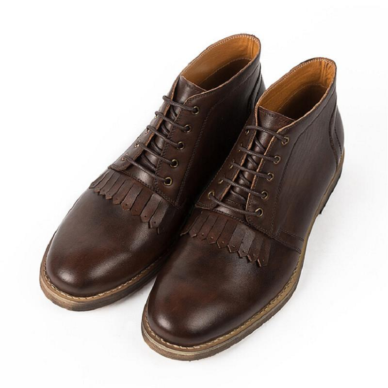Lace Plataforma Genuino Zapatos Mens Marca Trabajo Cuero Oscuro Up Erkek Hecho Transpirable Northmarch Botines Bot Mano Vintage Gris De A Marrón Nuevo aXwCPOxP