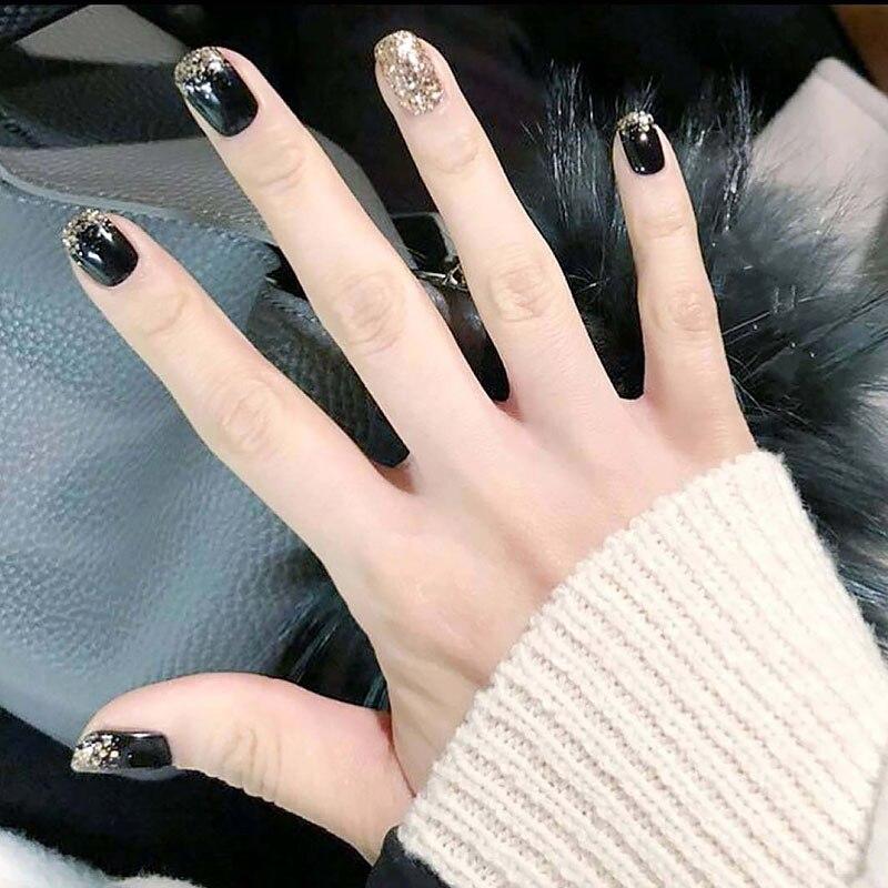 накладные ногти черного цвета фото очень историческое