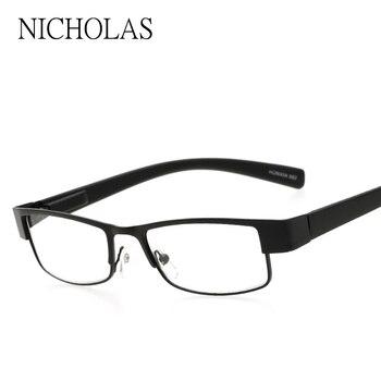2b2b59be9f Cuadrado Gafas para leer hombres mujeres metal cómodo hyperopia Gafas  dioptrías Gafas gafas leesbril Mannen Vrouwen