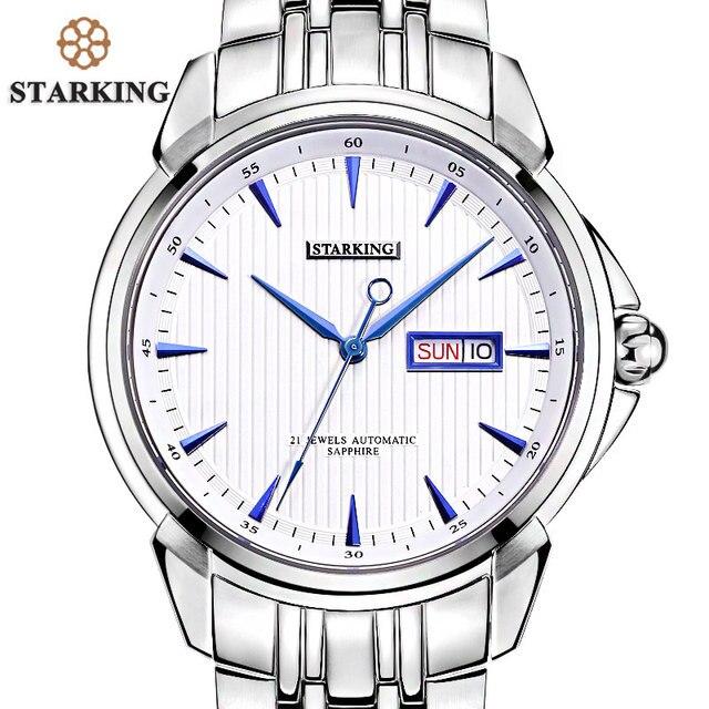 b02f67800ff STARKING dos homens De Luxo Automatic Self-vento Relógio de Pulso de Aço  Inoxidável Homens