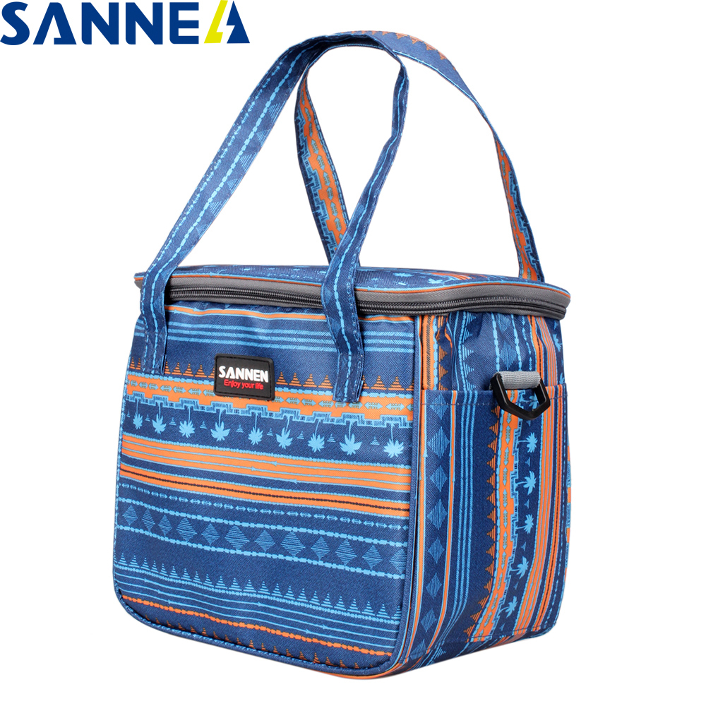 SANNE 8L Thermal Insulated Picnic Bag Women Handbag Lunch bag Thermo Bags Cooler Box YQ929