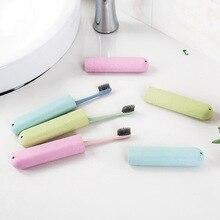 المحمولة فرشاة الأسنان صندوق السفر غسل صندوق تخزين المنزل مع غطاء فرشاة الأسنان cover20.8 * 3 سنتيمتر