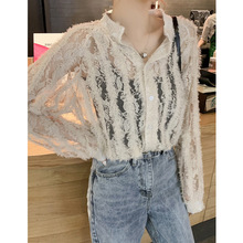 ZOGAA Spring 2019 New Style Hollow-out Immortal Westernized Bud Heart Machine Shirt Blouse Femme Chic Small Popular Design Sense