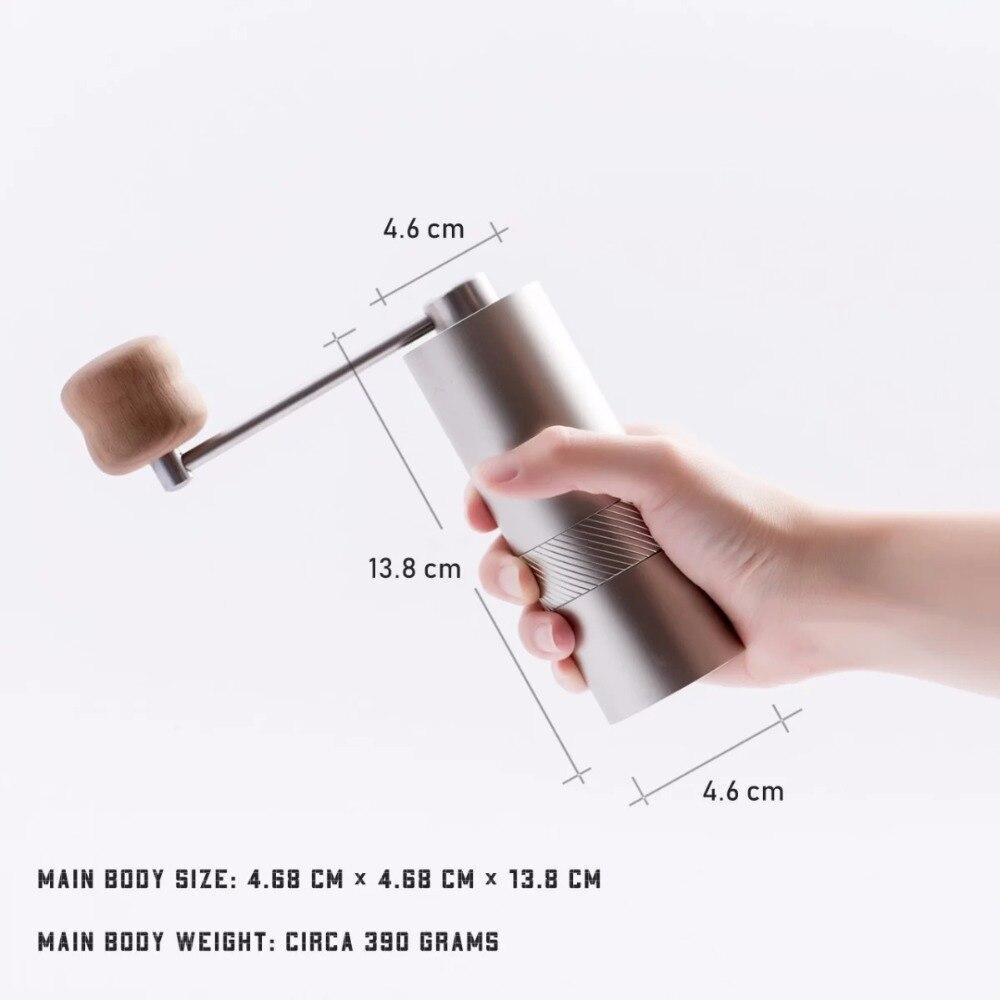MYM54 mini macinino da caffè portatile di macinazione in acciaio nucleo di Alta qualità maniglia di design super manuale mulino di caffè super consiglia-in Macinini da Casa e giardino su  Gruppo 1