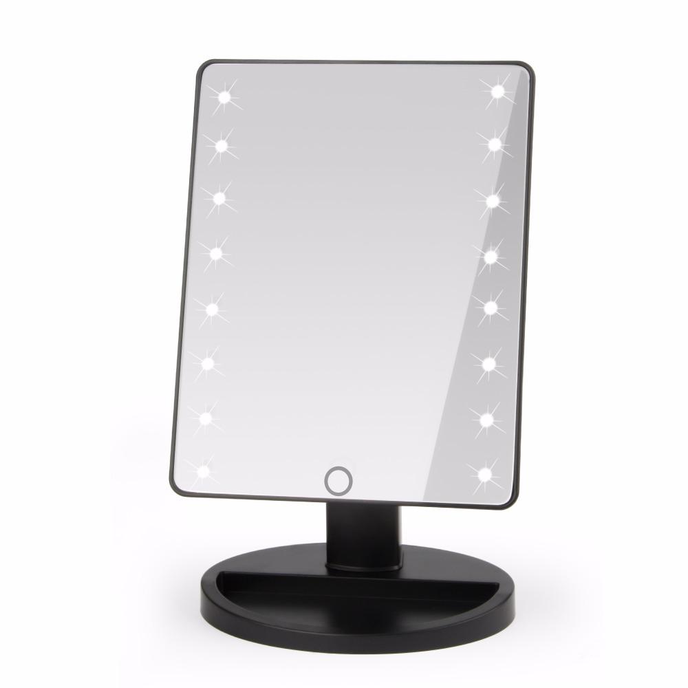 grados de rotacin de pantalla tctil herramienta de maquillaje espejo de tocador de maquillaje con