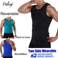 Palicy Neoprene Men S Sauna Vest Cincher Sweat Hot Shapers Shirt Man Body Shaper Male Slimming