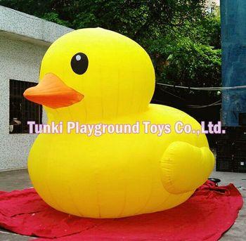3 m nadmuchiwane użytkowania gruntów żółta kaczka Oxford tkaniny żółta kaczka tanie i dobre opinie TKAP Plac zabaw na świeżym powietrzu 3 lat Nadmuchiwany plac zabaw dla dzieci yellow duck