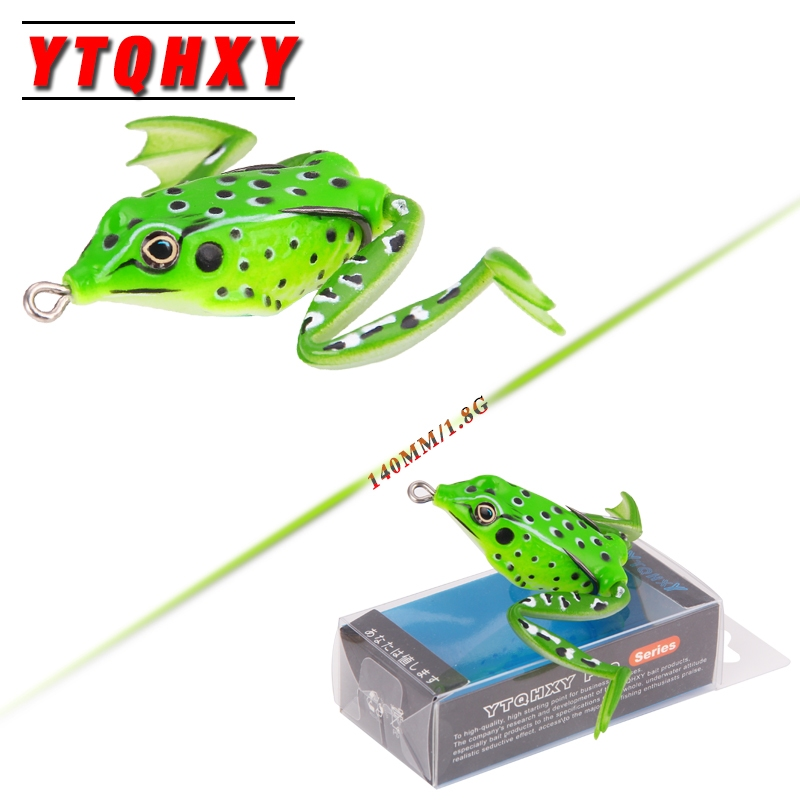 YTQHXY High Quality Frog Lure Artificial Bait 55mm 12g Snakehead Lure Topwater Simulation Frog Silicone Fishing Lures YE-183 1pc 5 5cm 13g frog lure fishing lures treble hooks top water ray frog artificial minnow crank strong artificial soft bait