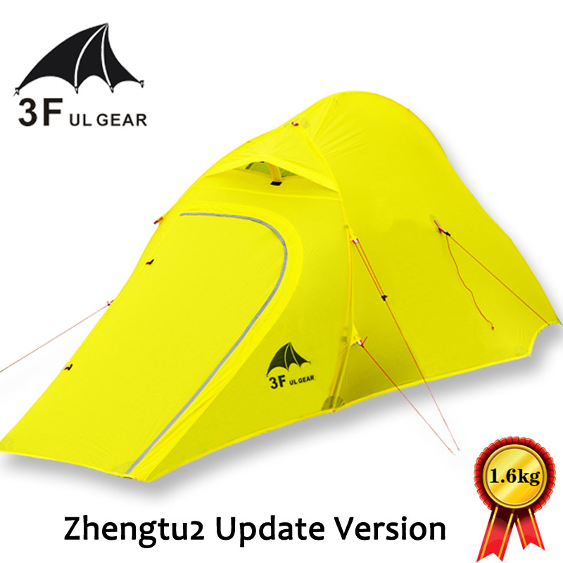 3F UL Gear Zhengtu2 210T 2-person 3-Season/4-season Ultralight Camping Tent with Matching Ground Sheet high quality outdoor 2 person camping tent double layer aluminum rod ultralight tent with snow skirt oneroad windsnow 2 plus