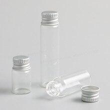100x2 ml 4 ml 6 ml Rõ Ràng Glass Container Với Nắp Nhôm Chai Thủy Tinh Nhỏ Với Vít nắp sử Dụng Tinh Dầu