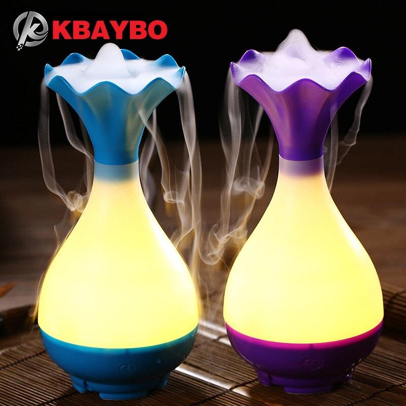 USB Luftbefeuchter Ultraschall Aromatherapie Ätherisches Öl Aroma Diffusor mit Led-nachtlicht Nebel Luftreiniger zerstäuber für Haus