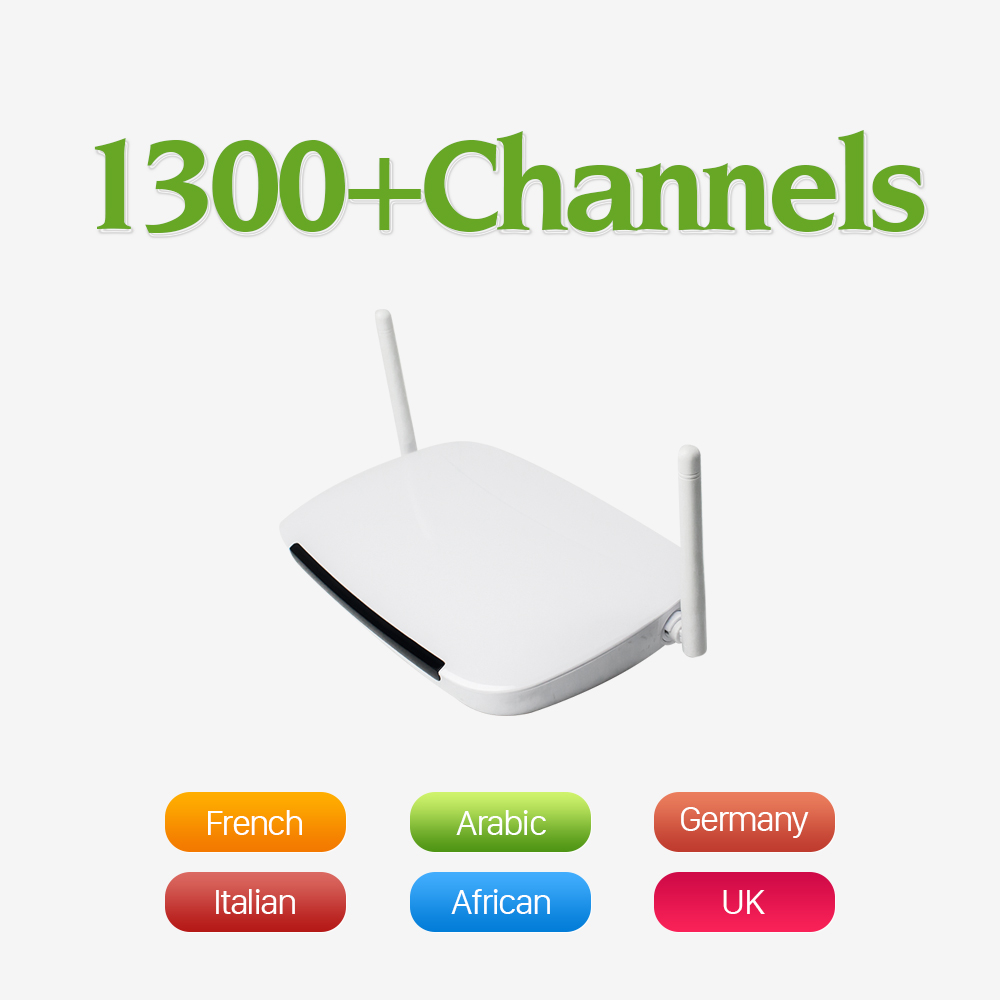2017 1Year Free Iptv Channels for Arabic French Canl Italy Europe with Android TV Box Quad Core 1G/8G 2.4G WIFI Set Top Box iptv streaming box leadcool android wifi 1g 8g include 1700 italy portugal french receiver europe arabic channels package