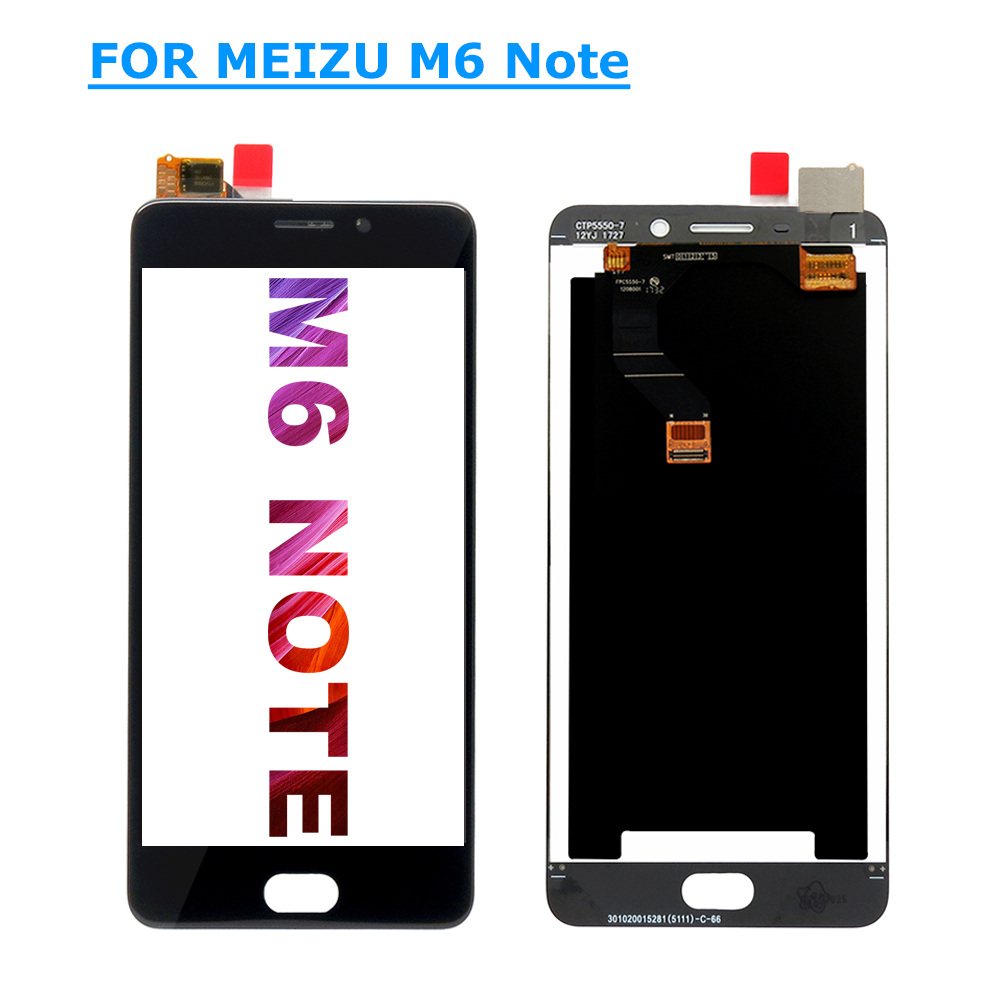 M6 Note LCD Assembly LCD Display + Touch Screen Digitizer Assembly Replacement for Meizu M6 Note