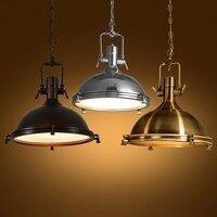 Nordic современные декоративные Винтаж промышленные Лофт медь металл подвесной светильник бар жизни Кухня Обеденная подвесной светильник