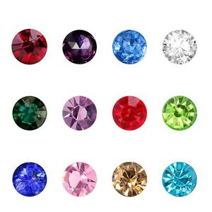60pcs 4mm Mixed 12 Month Glass Crystal Birthstone Floating Charms Fit Living Glass Floating Locket Pendant DIY Jewelry(China)