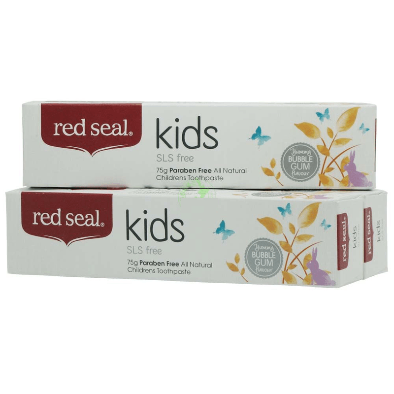 NewZealand Kids Natural SLS Free Toothpaste 2PCS, safer for children to swallow Protect mouth gums ulcers, Fights plaque decay household mouth shape 2pcs toothpaste squeezers
