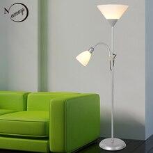 Modern 2 lights mother and child Floor Lamps Living Room adjustable Hotel Lighting E27 E14 LED AC 110V 220V For Bedroom bedside