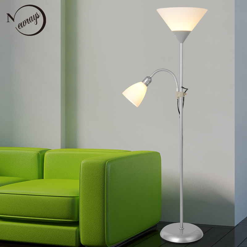 купить Modern 2 lights mother and child Floor Lamps Living Room adjustable Hotel Lighting E27 LED AC 110V 220V For Bedroom bedside по цене 4556.13 рублей