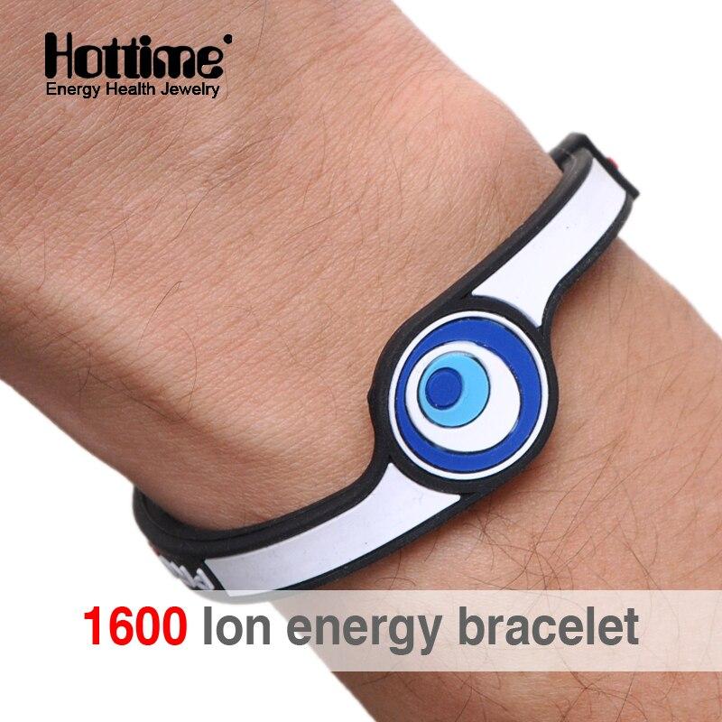 Prix pour Hottime Eco Energy Power Hologramme Bracelets Bracelets Garder L'équilibre Ion Magnetic Therapy Mode Silicone Bandes Livraison Gratuite