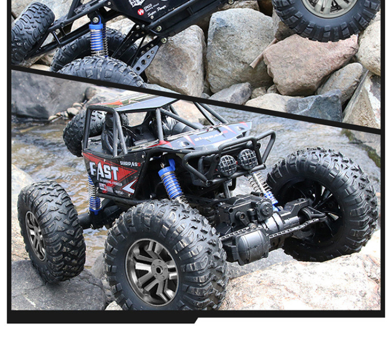 1:8 large 2.4G 4WD 48CM large size remote cotrol rock climber car toy  bigfoot Spring damping RC Car  off road car kid gifts