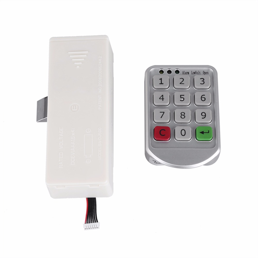 electronic digital password lock password keypad number for cabinet door drawer code locks. Black Bedroom Furniture Sets. Home Design Ideas