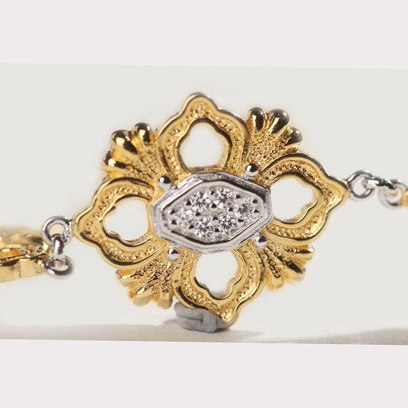 Cmajor S925 Sterling Zilveren Armbanden Etnische Vintage Kruis Bloem Charm Armbanden Voor Vrouwen - 2