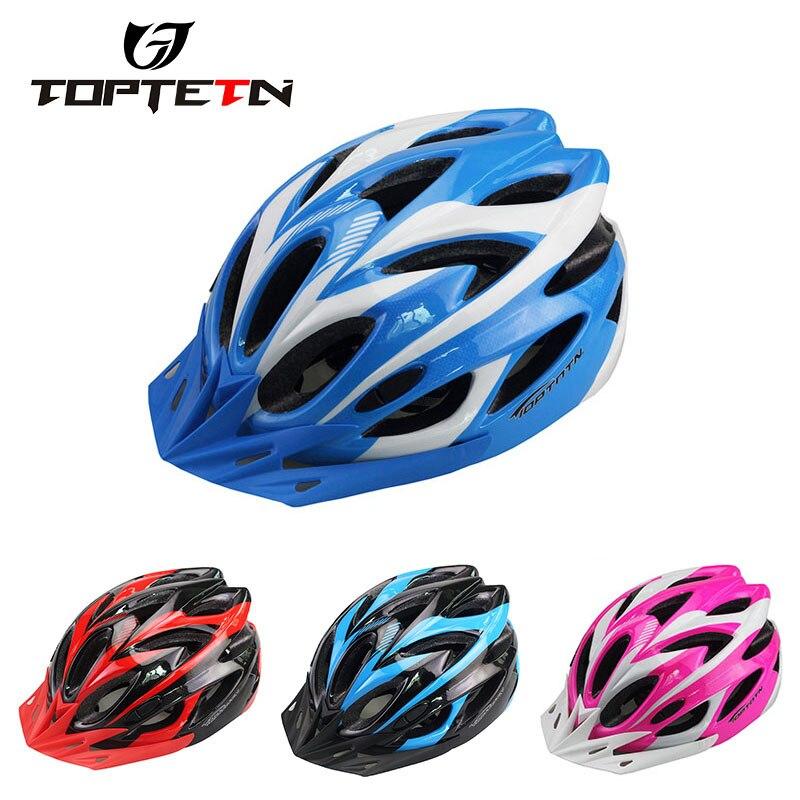 새로운 TOPTETN 자전거 남성 여성 헬멧 EPS 초경량 MTB 산악 자전거 헬멧 편안한 안전 사이클 자전거 헬멧 무료 크기