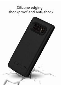 Image 3 - סוללה מטען קייס 6500 mah עבור Samsung Galaxy הערה 8 רך TPU טעינת טלפון כוח כיסוי לסמסונג הערה 8 סוללה מקרה