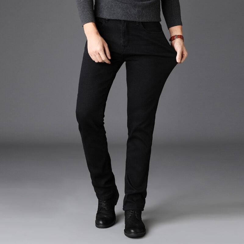Calças de brim dos homens de verão calças slim mid-rise jeans reta 3PH