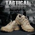 TTGTACTICAL Cordura Al Aire Libre Botas Tácticas Militares Botas de Combate Zapatos SWAT Camping Desierto Repelente Al Agua Negro/Desierto