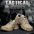 TTGTACTICAL Outdoor Tactical Boots Cordura Military Combat Shoes Water Repellent SWAT Camping Desert Boots Black / Desert