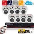 SUNCHAN 8 Canais AHDH Sistema 8ch CCTV Sistema de Câmera 2.0MP 1920*1080 P Interior Câmera de Segurança Sistema de Vigilância Kits